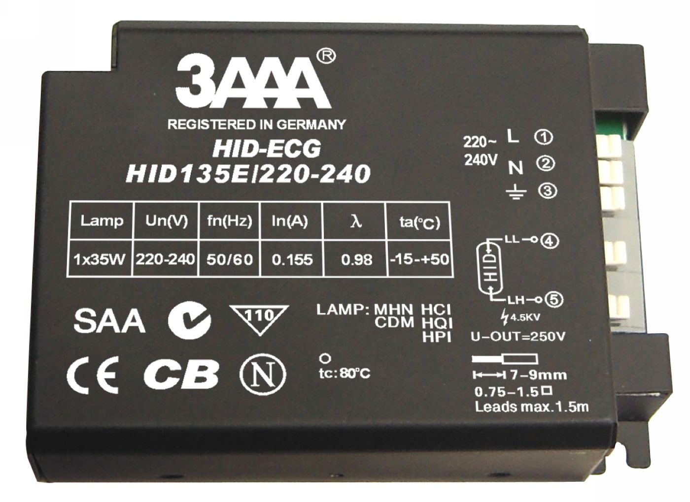 HID Lamp Electronic Ballast